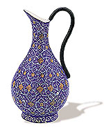 Rose Water Jug  iran metal work art work brass silver gold cupper felez iron ahan