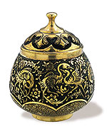 Embossed Candy Pot (Type I)  iran metal work art work brass silver gold cupper felez iron ahan