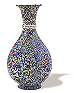 Flower Vase  iran metal work art work brass silver gold cupper felez iron ahan