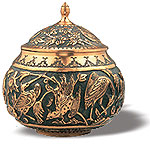 Embossed Candy Pot (Type II)  iran metal work art work brass silver gold cupper felez iron ahan