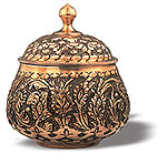 Embossed Candy Pot (Type III)  iran metal work art work brass silver gold cupper felez iron ahan